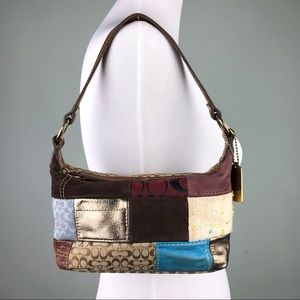 Coach Patchwork Pouchette Mini Bag Purse Leather